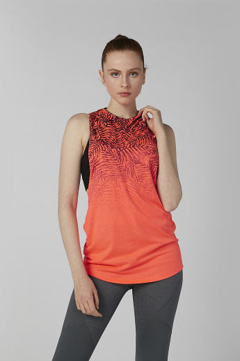 Printed Sleeveless T-shirt with Hood