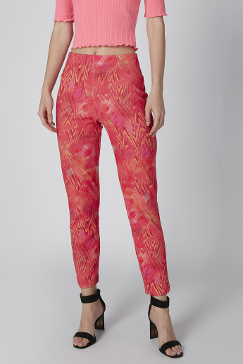 Printed Treggings with Flexi Waist
