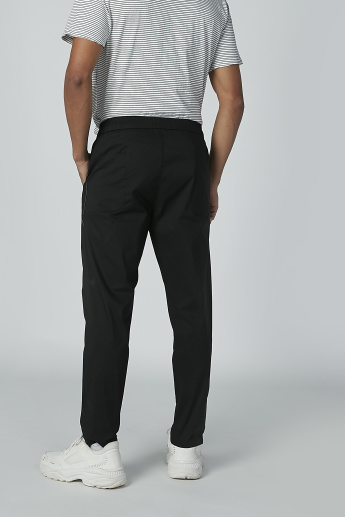 Plain Trousers with Pocket Detail and Drawstring