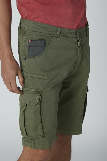 Plain Shorts with Pocket Detail and Belt Loops