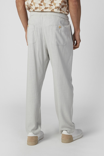 Full Length Pants with Pocket Detail and Drawstring