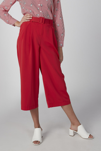 Koton Plain Culottes with Pocket Detail