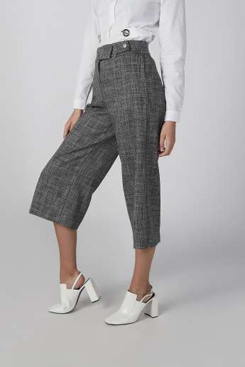 Koton Textured Culottes with Belt Detail