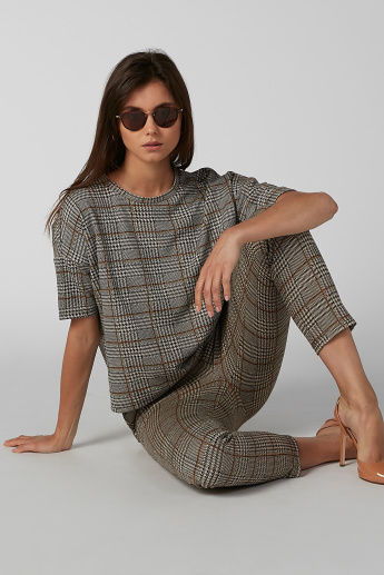Koton Chequered Trousers with Pocket Detail