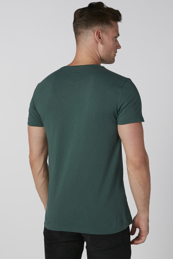 Koton Printed T-shirt with Round Neck and Short Sleeves