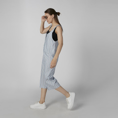 Koton Striped Sleeveless Jumpsuit