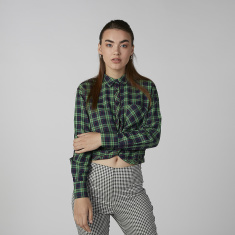 Koton Chequered Shirt with Long Sleeves