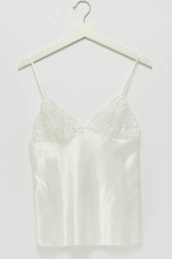 Embellished Lace Detail Camisole