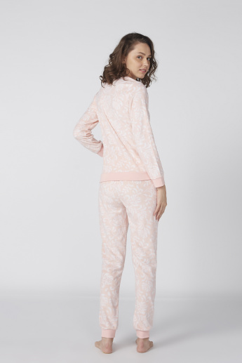 Printed Long Sleeves Pullover with Jog Pants