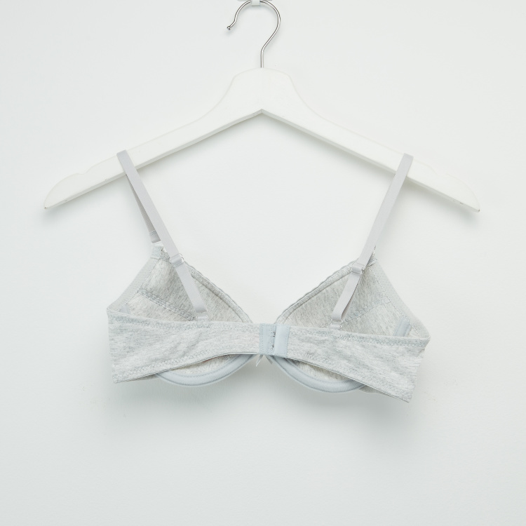 Set of 2 - Assorted Padded Bra with Hook and Eye Closure