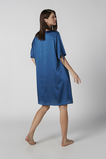 Set of 2 - Assorted Round Neck Sleep Dress with Short Sleeves