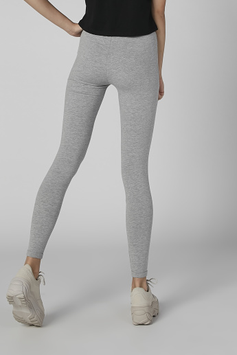 Smiley World Plain Leggings with Printed Elasticised Waistband