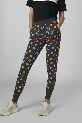 Smiley World Printed Jog Pants with Pocket Detail