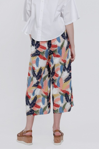 Printed Palazzo Pants with Side Slits