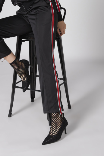 Full Length Pants with Tape Detail and Elasticised Waistband