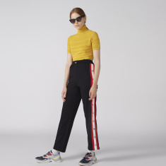 Embellished Track Pants with Tape Detail and Elasticised Waistband