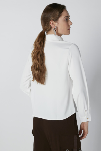 Solid Top with Long Sleeves in Regular Fit