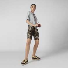 Animal Print Flexi Waist Shorts with Elasticised Waistband