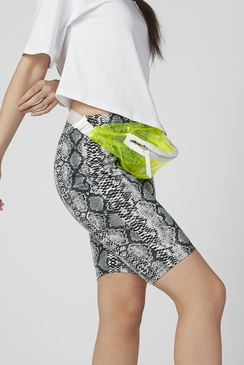 Skinny Fit Printed Flexi Waist Shorts with Elasticised Waistband