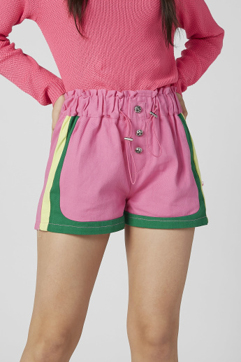 Stripe Detail Flexi Waist Shorts with Elasticised Waistband