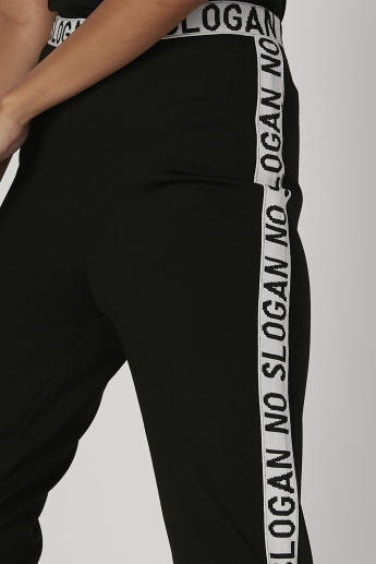 Printed Flexi Waist Track Pants with Elasticised Waistband