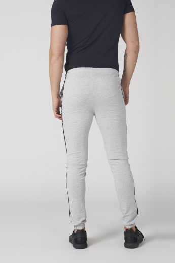 Kappa Tape and Pocket Detail Jog Pants with Drawstring