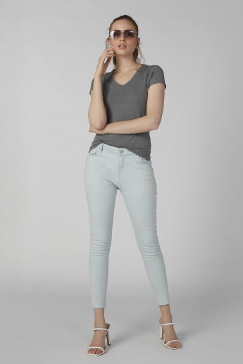 Lee Cooper Plain Jeans with Pocket Detail and Belt Loops