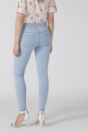 Lee Cooper Full Length Denim Jeggings with Elasticised Wasitband