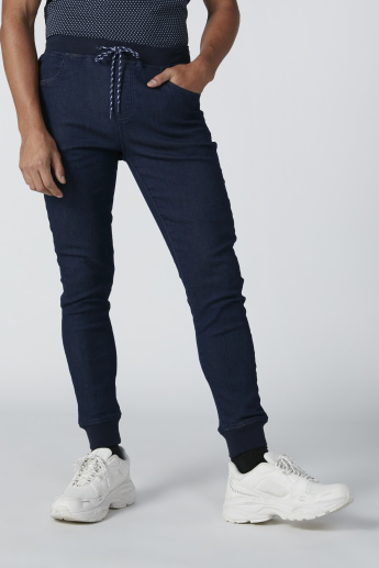 Lee Cooper Denim Jog Pants with Pocket Detail