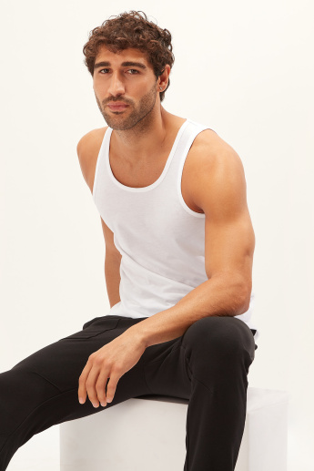 Solid Vest with Scoop Neck