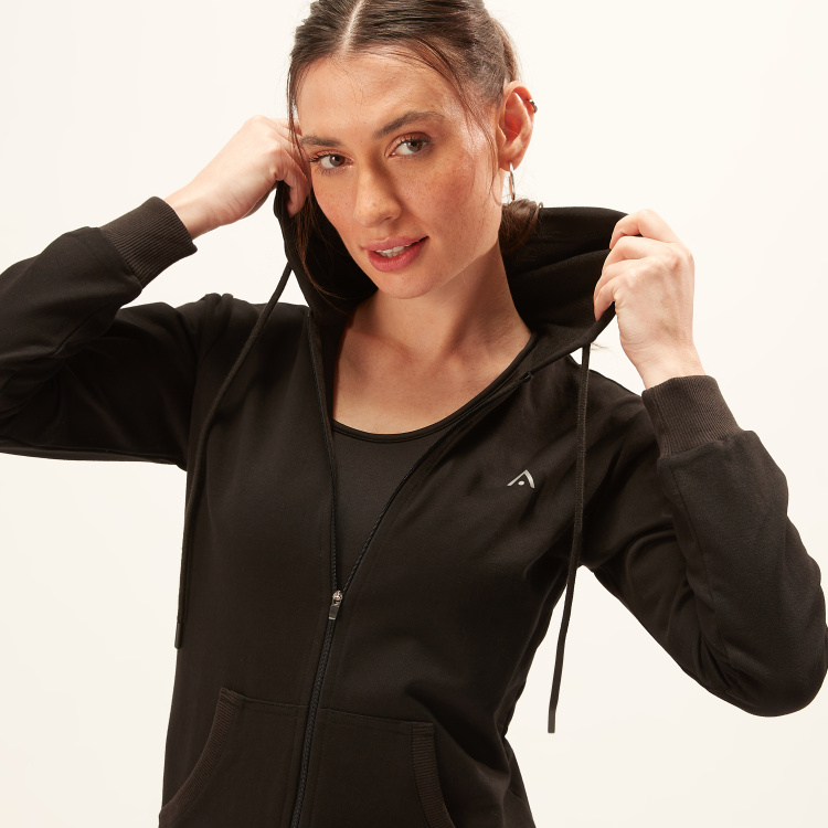 Long Sleeves Jacket with Zip Closure and Pocket Detail
