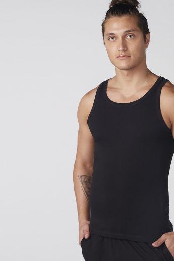 Sleeveless T-Shirt with Scoop Neck