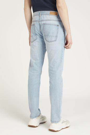 Pocket Detail Full Length Jeans with Belt Loops