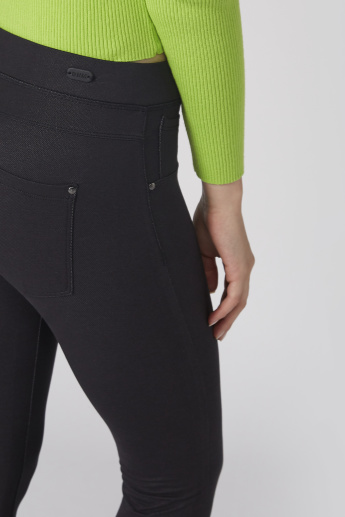 Pocket Detail Jeggings with Elasticised Waistband