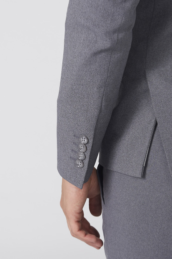 Notched Lapel Jacket with Long Sleeves and Pocket Detail