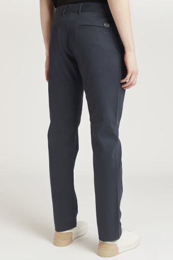 Full Length Formal Trousers with Pocket Detail and Belt Loops