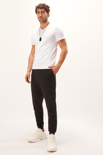 Pocket Detail Jog Pants with Elasticised Waistband and Drawstring