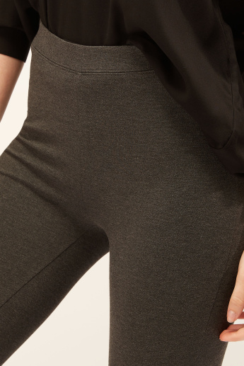 Plain Full Length Leggings with Elasticised Waistband