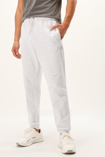 Full Length Jog Pants with Drawstring and Pocket Detail