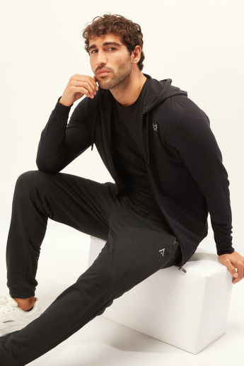 Solid Jacket with Long Sleeves and Hood
