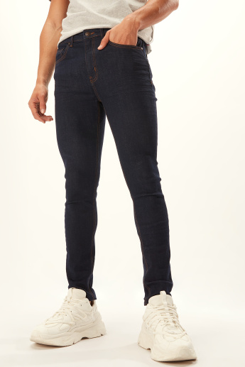 Lee Cooper Full Jeans with Pocket Detail and Belt Loops