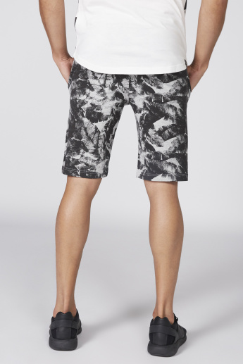 Being Human Printed Shorts with Elasticised Waistband