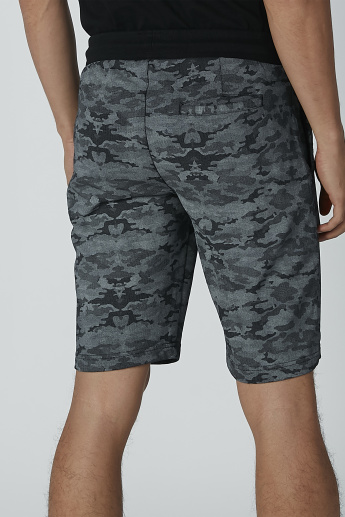 Sustainable Being Human Printed Mid-Rise Shorts with Pocket Detail