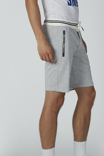 Sustainability Plain Mid-Rise Shorts with Drawstring