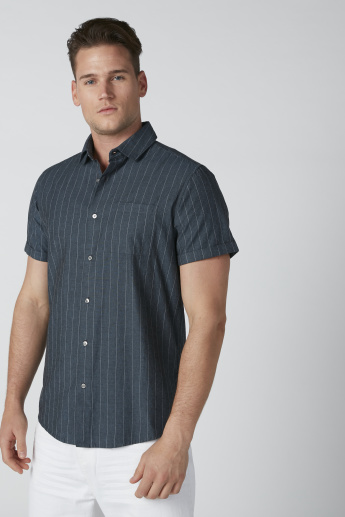 Sustainable Being Human Striped Shirt with Chest Pocket