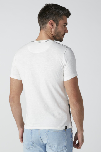Being Human Printed T-Shirt in Regular Fit with Round Neck