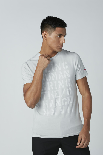 Being Human Printed T-Shirt with Short Sleeves