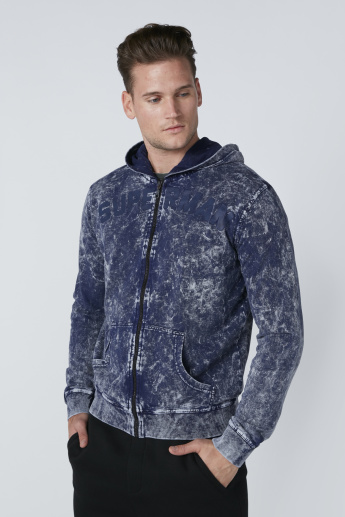 Superman Printed Jacket with Hood and Zip Closure