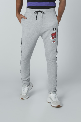 Mickey Mouse Printed Pants with Pocket Detail