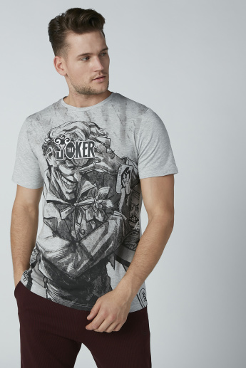 Joker Printed T-Shirt with Round Neck and Short Sleeves